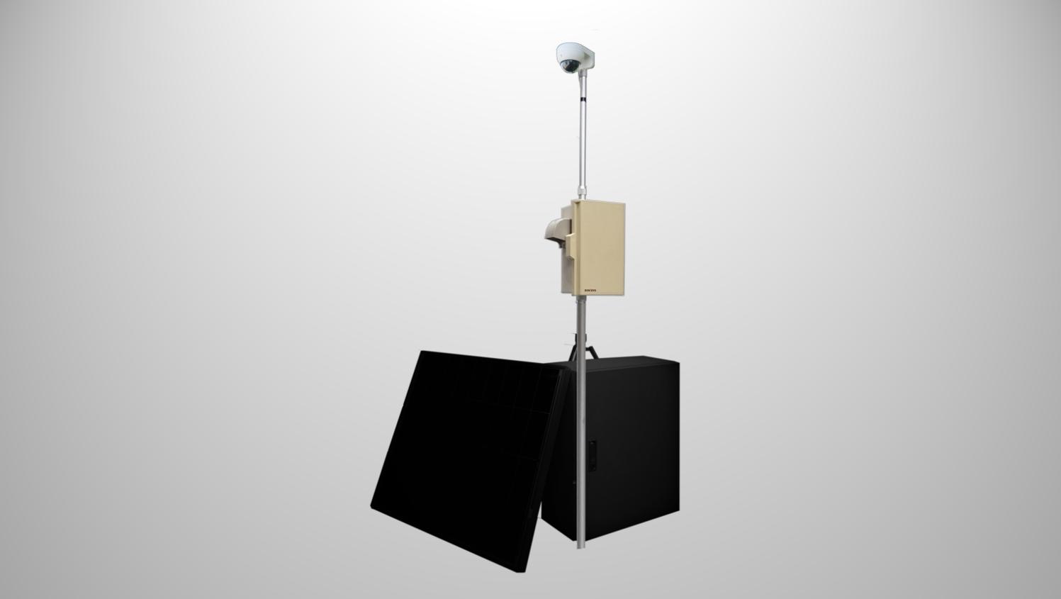 <h3>Type-B</h3> <p>・IPカメラ<br>・LTE/ルーター<br>・設置柱(1.75M、 十字架台付き)</p>のサムネイル