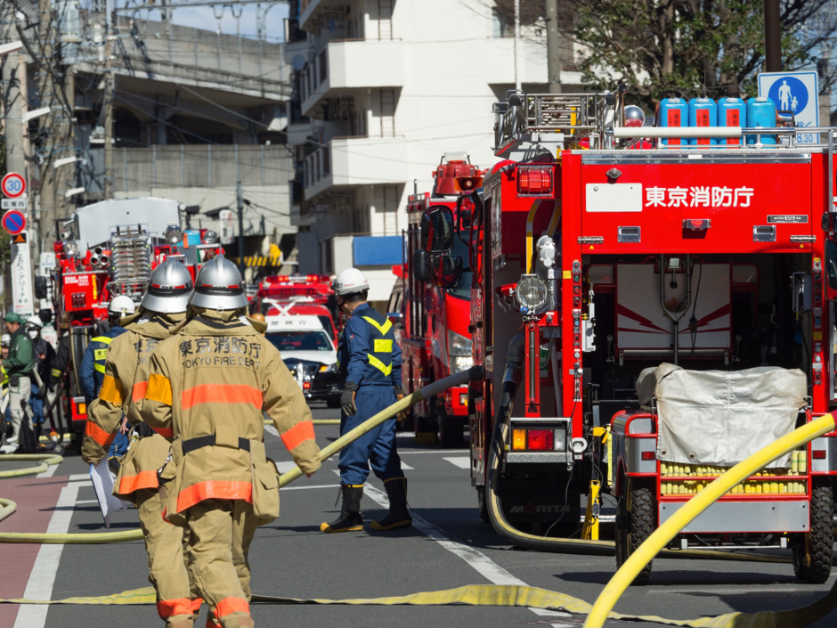 <p>現場状況の記録</p> <p>事件、火災現場の状況把握</p>のサムネイル
