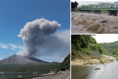 <p><strong>河川氾濫、火山噴火、地滑り等の災害監視</strong></p>のサムネイル